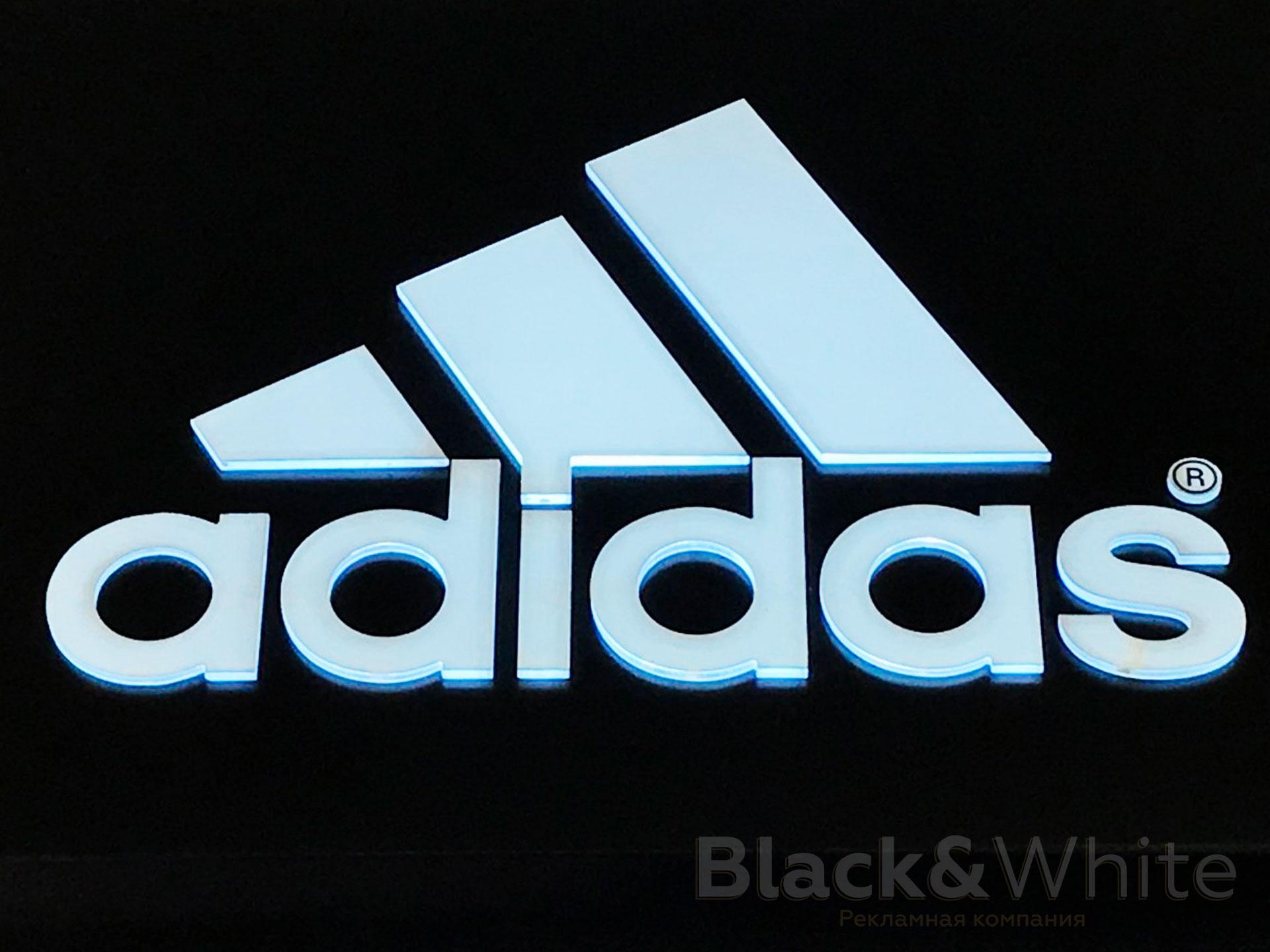 Вывеска для магазина adidas